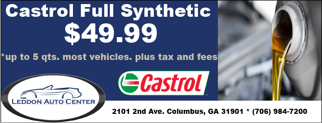 Castrol Full Synthetic Oil Change Special, only $49.99