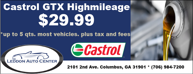 Castrol GTX Highmileage Oil Change Special, only $29.99